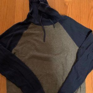 NWT Mens L Express cowl neck long sleeve hoodie